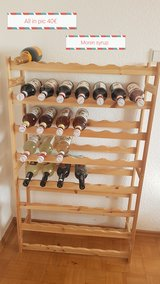 wine rack with monin syrup in Ramstein, Germany