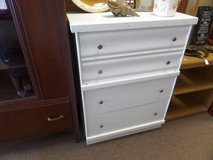 4 DRAWER WHITE DRESSER  42H X 32W X 16D in Cherry Point, North Carolina