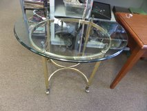 GLASS AND METAL END TABLE in Cherry Point, North Carolina