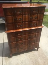 Beautiful Vintage Solid Cherry 7 Drawer Wood Dresser in Beaufort, South Carolina