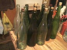 a collection of 14 antique wine bottles that take corks in Montgomery, Alabama