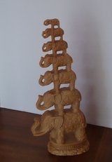 Vintage Lucky 7 Stacked Tribal Elephants in Kingwood, Texas