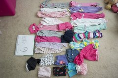6 month baby girl clothing lot in Warner Robins, Georgia