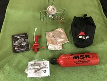 MSR Dragon Fly stove + gas canister in Camp Pendleton, California