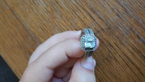 Wedding band set size 7 white sapphire in Yucca Valley, California