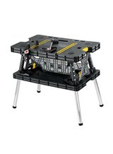 Keter Folding Compact Workbench Work Table, 21.7 x 33.5 x 29.75-Inches, Black/ yellow in Clarksville, Tennessee
