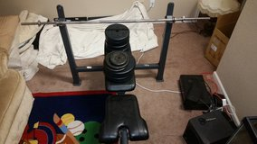 Weight bench with weights in Vacaville, California