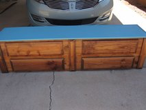 74''long fits up to a 70''TV with game storage 4 drawers All wood ~! in Alamogordo, New Mexico
