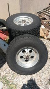 1989 jeep wrangler tires and rims in Alamogordo, New Mexico