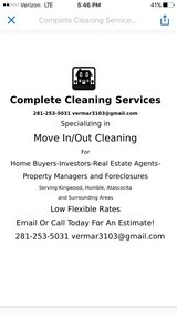 Move In/Out Cleaning in Spring, Texas