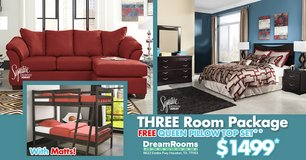 3 Room Package - FREE Queen Pillow Top - Dream Rooms Furniture! in Bellaire, Texas
