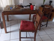 Antique Wood Table & 2 Chairs in Alamogordo, New Mexico