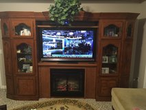 Entertainment Center with built in Fire Place in Perry, Georgia