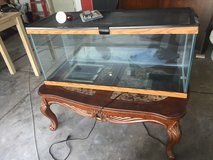 Snake, Reptile or Fish Tank Aquarium 75 GALLON GLASS metal mesh top, extras in Lockport, Illinois