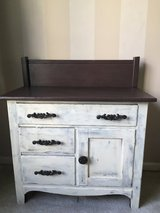 Antique wash basin cabinet painted in Batavia, Illinois