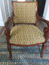 Nice wood and upholstered side chair in Plano, Texas