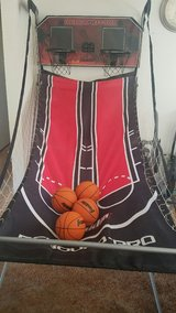 Dual Basketball hoops for Inside Home with 4 Balls and Pump in 29 Palms, California