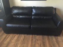 Black Leather Couch and Loveseat in Wilmington, North Carolina