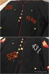 Dress blues jackets in San Clemente, California
