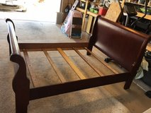 Sleigh Bed Wooden Frame - Full size in 29 Palms, California