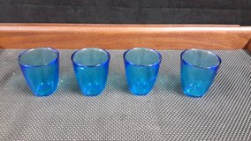 Heavy Blue Glass Cups $5 ea or $15 for all in Okinawa, Japan