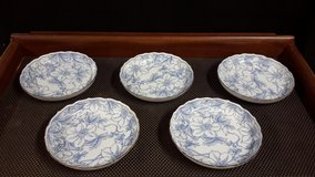 Japanese Blue Porcelain Soup Bowls ($5 ea or $20 for all) in Okinawa, Japan