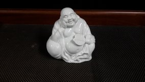 White Porcelain Happy Buddha (Made in Japan) in Okinawa, Japan