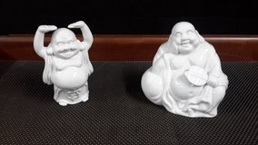 White Porcelain Happy Buddha Dolls  (Made in Japan) in Okinawa, Japan