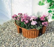3 new triangle shaped flower pots in Ramstein, Germany