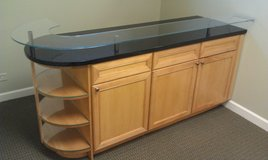 CABINET----BAR  with  GLASS / GRANITE  Top  --- CABINETRY in Westmont, Illinois
