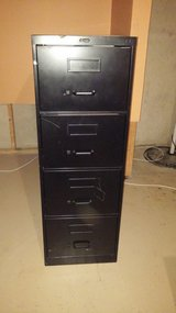 Black legal size filing cabinet in Naperville, Illinois