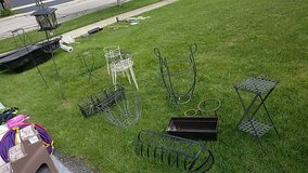 plant stands and Sheppard hook in Naperville, Illinois