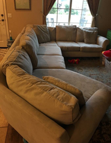 Large microfiber sectional in Vista, California