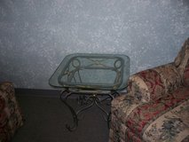 Glass & iron coffee table & end tables in Alamogordo, New Mexico