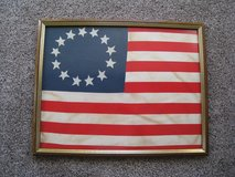 Vintage framed 13 stars and stripes United States of America Flag in Chicago, Illinois