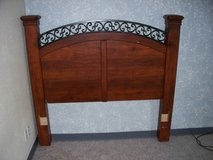 Big wood head board for queen size bed in Alamogordo, New Mexico