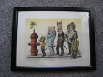 SIGNED THE SLOW POKE - HAND COLORED ETCHING BY CURT FRANKENSTEIN in Glendale Heights, Illinois