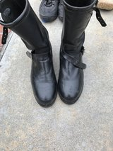 Black Motorcycle Boots in Camp Pendleton, California