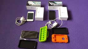 iPhone 4 (16 GB) UNLOCKED Phones with cases with great working condition. in Lockport, Illinois