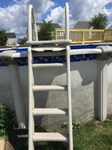 pool stairs w sliding safety lock out in Morris, Illinois