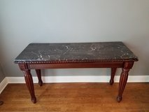 **price drop ready to sell** Sofa table - wood with marble top in The Woodlands, Texas