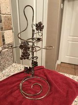 Metal wine bottle holder (wine not included) in Spring, Texas