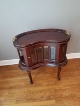 **price drop ready to sell** Antique kidney shaped table with removable tray in The Woodlands, Texas