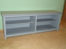 grey tv stand/bench in Bolingbrook, Illinois