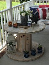 Large Grey Washed Cable Spool Table in Camp Lejeune, North Carolina