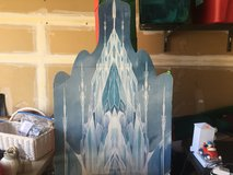 Elsa Frozen ice castle cut out decoration in Naperville, Illinois