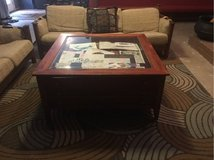 Map display coffee table in Kingwood, Texas