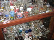LARGE COLLECTION OF SHOT GLASSES   ( OVER 150 ) in Yucca Valley, California
