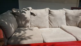 Microfiber couch in Glendale Heights, Illinois