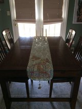 Dark cherry Dining table w/6 chairs in Clarksville, Tennessee